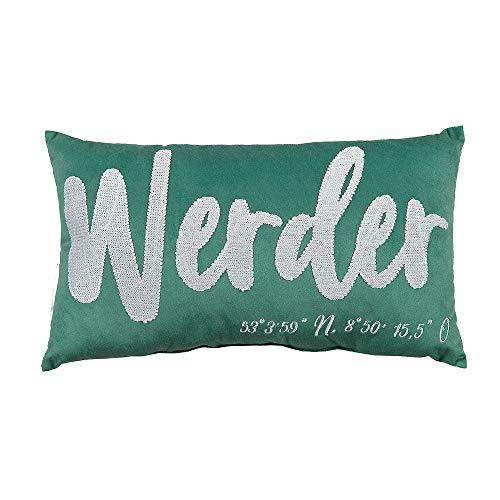 Werder Bremen SV Kissen mit Stadionkoordinaten Werder, 21-70107