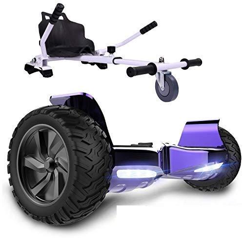 GeekMe Patinete Eléctrico Todo Terreno de 8,5 '' Scooter Equilibrado con Potente...