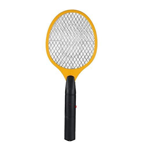 RHNE Batería De Carga Bug Zapper Raqueta Matamoscas Eléctrico Mosquito Killer Amarillo