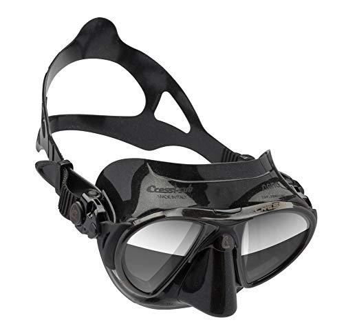 Cressi Nano Taucherbrille, Schwarz HD Linsen, UNI