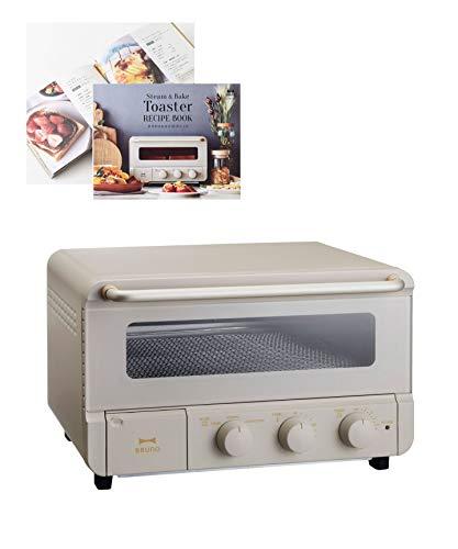 BRUNO トースター 4枚 人気 スチーム機能 温度調節 タイマー レシピ 付き お祝 引っ越し 新生活 結婚祝 ギフト 贈り物 グレージュ ブルーノ スチーム&ベイク トースター BOE067-GRG 1703339