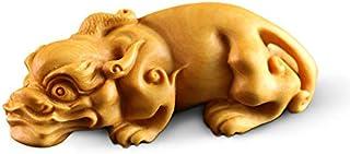 金品木彫 風水 開運置物 ツゲの木彫り 貔貅(ひきゅう) 木製彫刻