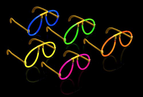 10 leuchtende Knicklichter Brillen - Leuchtbrillen Set - The Glowhouse