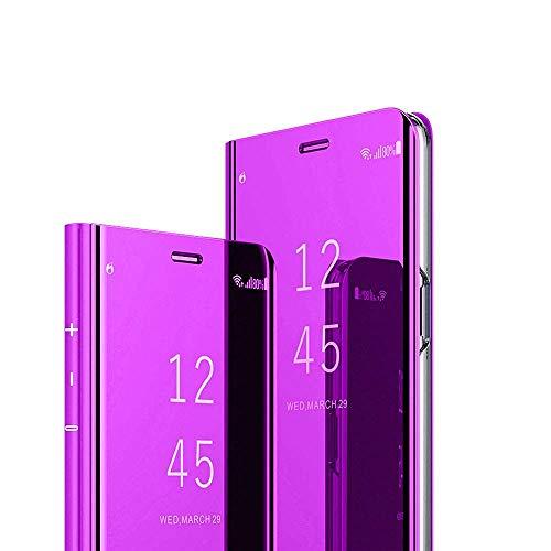C-Super Mall - Funda con Tapa para Samsung Galaxy S20 Ultra (6,9 Pulgadas), Transparente y Transparente