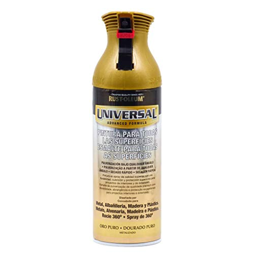 Pintura Spray Universal Metalizado Rust-Oleum Oro Puro