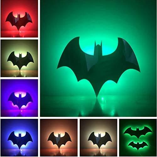 Hero Batman Bat Baby 7 Color Lampara Nigth Light Wall Lamp for Children Bedroom Porch Light Lava Kid Gift