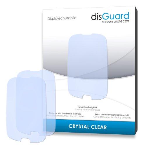 disGuard RY033117 kristallklar hartbeschichtet Displayschutzfolie für Huawei Ascend Y100 U8185/Y-100 U-8185 (2-er Pack)