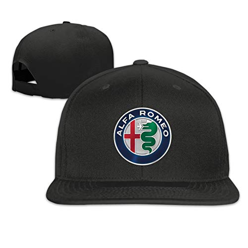 Al-FA R-Om-Eo Auto Logo Unisex Sportmütze Sonnenhut Flache Mütze Hip-Hop Mütze Männer Baseballmütze Cowboy Mütze