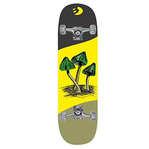 Best Sporting Skateboard Mushroom Arts Komplettboard ABEC 7, belastbar 100 kg (gelb)