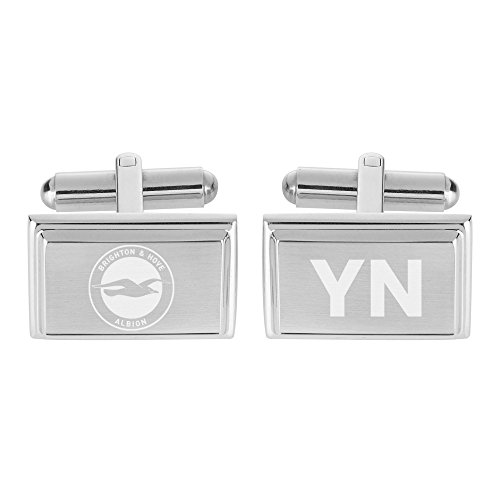 Personalised Sports & Photo Gifts Compatible with Brighton & Hove Albion F.C. Personalised Crest Cufflinks