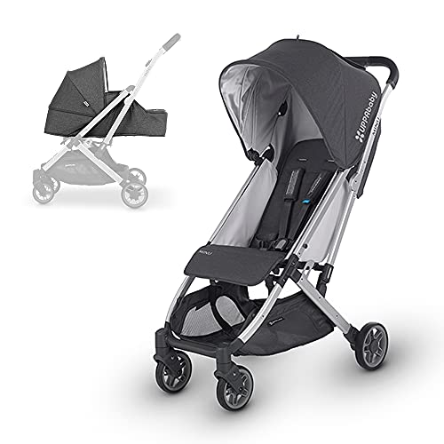 UPPAbaby MINU Stroller +from Birth Kit - Jordan (Charcoal Melange/Silver/Black Leather)