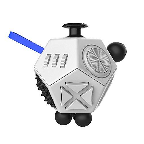 Fidget Cube II Angst Stress Relief Fokus 12 Seite Würfel Spielzeug VERY100 (weiß)