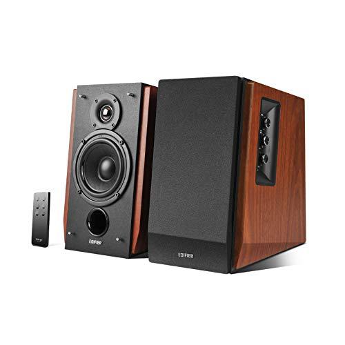 Edifier R1700BT Altavoces de Estante Bluetooth - Monitores de Estudio de Campo Cercano Activos - Altavoces 2.0 - Instalación de gabinete de madera - 66w RMS