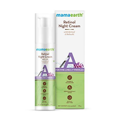 Mamaearth Retinol Night Cream For Women with Retinol & Bakuchi for Anti Aging, Fine Lines and Wrinkles – 50 g