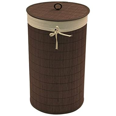 Redmon Round Bamboo Hamper with Liner