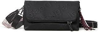 Desigual Womens BOLS_Galia Venecia Maxi Across Body Bag, Black, One Size