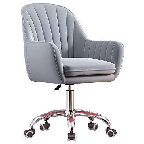 W-xiao, sedia girevole in velluto, sedia girevole da ufficio, regolabile in altezza a 360°, morbida sedia per computer con braccioli e ruote, per soggiorno, studio, camera da letto