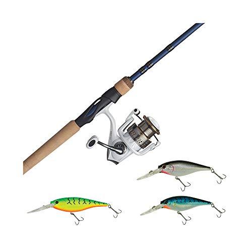 "Fenwick Eagle Fishing Rod & Abu Garcia Max Pro Spinning Reel Combo with Berkley Flicker Shad Hard Bait Silver, 6'6"" - Medium - 1pc"