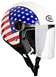 BHR 93815, Casco de Moto, color USA, talla 55/56 (S )
