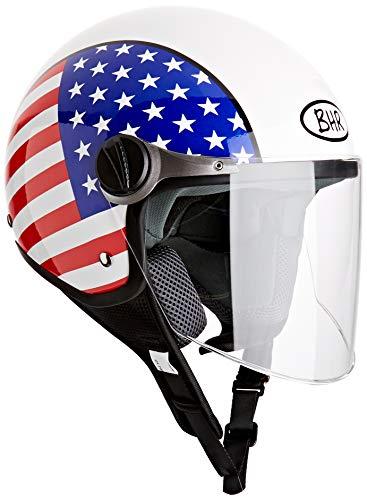 BHR 93815, Casco de Moto, color USA, talla 55/56 (S )