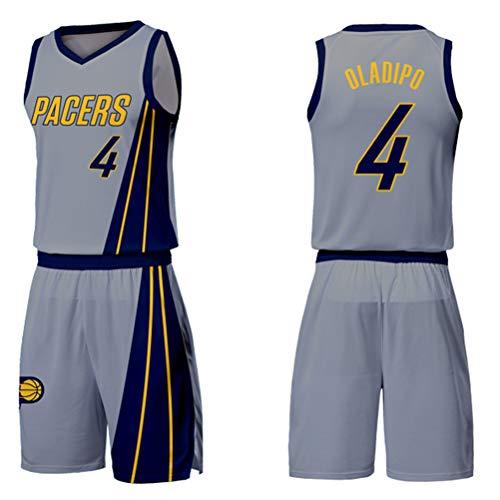 Indiana Pacers # 4 Oladipo Basket da uomo Maglie senza maniche T-shirt sportive retrò Swingman Jersey Abbigliamento fitness all'aperto-L