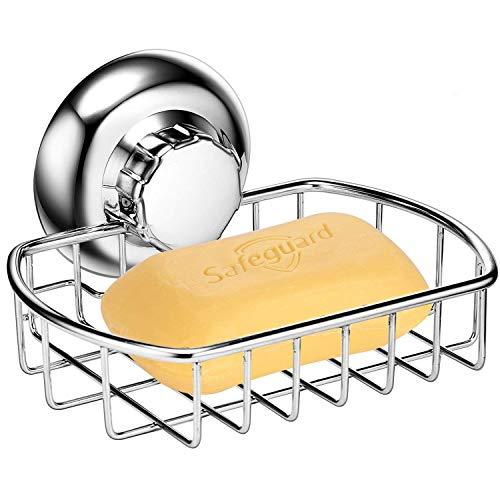 MaxHold Seifenkorb ohne Bohren / Saugnapf – Seifenschale Halter – Vakuum-System – Edelstahl rostet nicht – für Bad & Küche