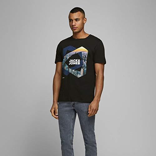 Jack & Jones Jcoifter tee SS Crew Neck Fst Camiseta, Capitán del Cielo, S para Hombre
