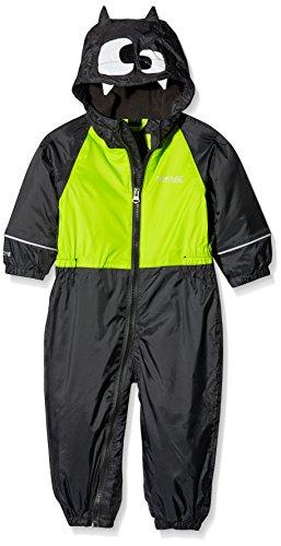 Regatta Unisex Kids Mudplay II Overtrousers Balck BlackLimeZs Size 24 36