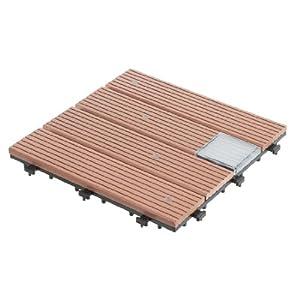 Ultranatura 20010001003C - Set de baldosas para terraza, Compuesto de plástico y Madera