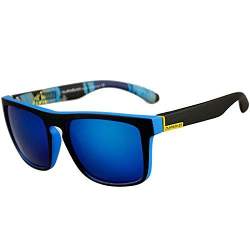 JAGENIE Gafas de sol cuadradas de moda para hombres que conducen gafas de pesca deportiva al aire libre,C7