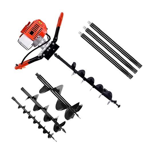Garden Drill Garden Drill Digger Planter Tool Garden Auger With 3 Drill Bits Extension Rods.