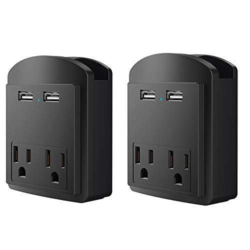 Affordable Multi Wall Outlet USB Wall Charger with Phone Holder Outlet Extender Surge Protector with...