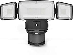 LEPOWER 35W LED Security Lights Motion Sensor Light Outdoor, 3500LM Motion Security Light, Waterproof IP65, 5500K, Full Metal, 3 Head Motion Detected for Garage,Porch,Yard