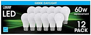 feit electric led 60w replacement daylight 12 pack