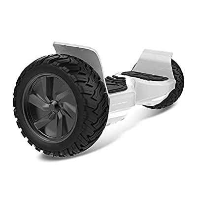 """City Cruiser Hoverboard 8.5"""" Self Balancing Scooter UL2272 Certified Hoverboard with Bluetooth Speaker and LED Lights for Adult and Kids Off Road Tires"""