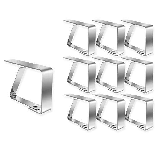 OurLeeme Clips de Table, Clip de Nappe en Acier Inoxydable Clips de Couverture de Table Supports de Tissu de Table de Jardin pour Mariage à Domicile
