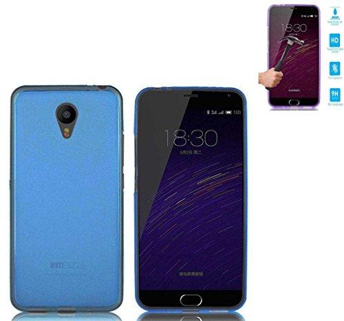Todobarato24h Funda TPU Lisa Meizu M3S (4G) Azul + Protector de Cristal...