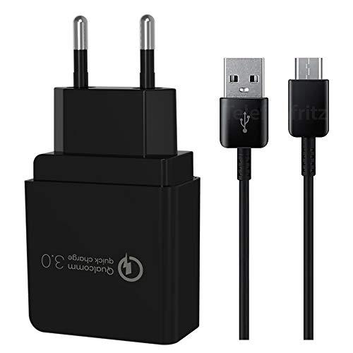 Quick Charge Schnellladegerät 18W XL Ladekabel USB C Fast Charger Netzteil für Samsung Galaxy S21 S21FE S21+ S20FE S20 S20+ S20 Ultra S10 S9 S8 A80 A72 A71 A52 A51 A50 A40 A32 A21s A21 A20 A12