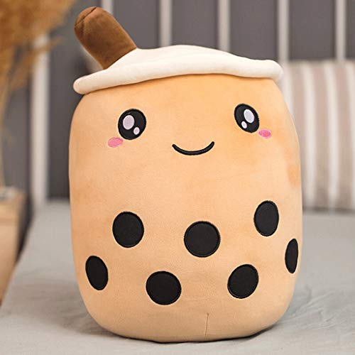 xiaokeai Cute Plush Pillow Throw Pillow Stuffed Stuffed Animal Toy Children Hug Pillow Sleeping Comfort Cushion Girl Creative Gift (milk Tea Cup) (Color : C, Size : S size)