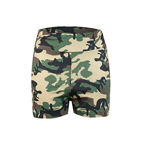 Shop1994 Shorts Women Sexy Gym Fitness High Waist Camouflage Printed Side Bandage Hip Push Up Workout Sports-GN-S