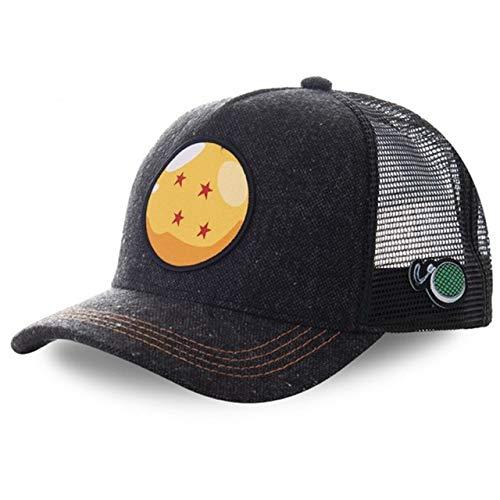 Gorra de bisbol de algodnSnapbackHombres Mujeres Hip Hop Pap Sombrero de Malla Sombrero de Camionero-Ball Black