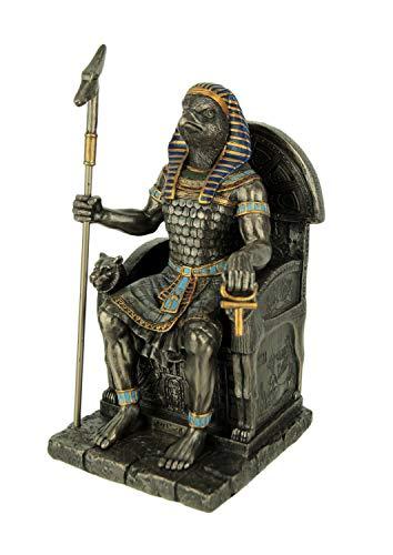 Wu Horus Estatua de Dios Egipcio Sentado en Trono