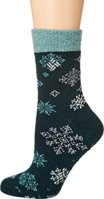Columbia Flurries Lodge Crew Socks, 1 Pair, Dark Seas, Women's 4-10
