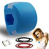 Jaw Exerciser And Neck Toning Exerciser Double Chin Exercise Device Fitness Ball Neck Exerciser Stretching Device Define Your Jawline, Slim and Tone Your Face (Blue)