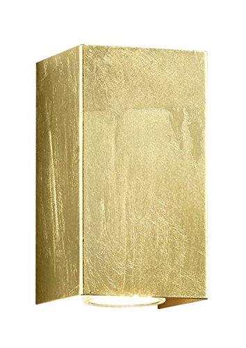 Trio Leuchtenウォールランプ、メタル、GU10、1ワット、ゴールド、10 x 6 x 16.5 cm Cleo Eckig 8 x 8 x 15 cm 206500279 Cleo