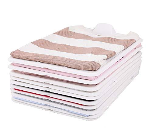 JeeMooTown Organizadores de camisas o jerséis, para armario, tabla de almacenamiento, tamaño apto para la mayoría de ropa, robustos, para que no tengas más pilas de ropa desordenadas