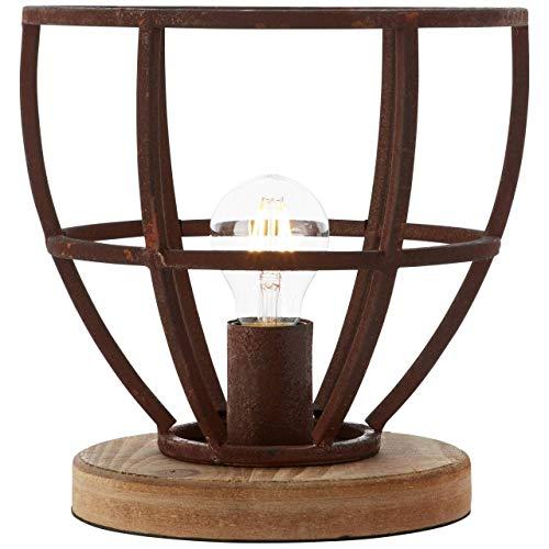 Tafellamp Matrix XL landelijk roest metaal 60W Ø 25 cm
