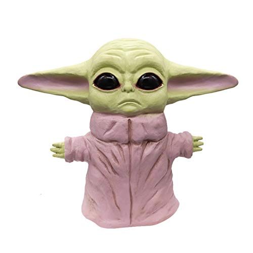 LINRUS Figura de una Pieza Star Wars The Child Animatronic Edition AKA Baby Yoda Toys Small Yoda Like Soft Figure para ninos de 4 anos en adelante