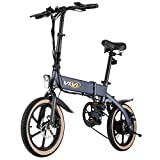 Vivi Electric Folding Bikes for Adults, 16' Ebike 350W Motor, Small Electric Bicycle with 10.4Ah Battery, 20Mph Speed and UP to 35 Miles (US Stock)