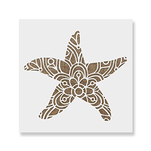 Starfish Stencil - Reusable Stencils for Painting - Create DIY Starfish Crafts and Projects
